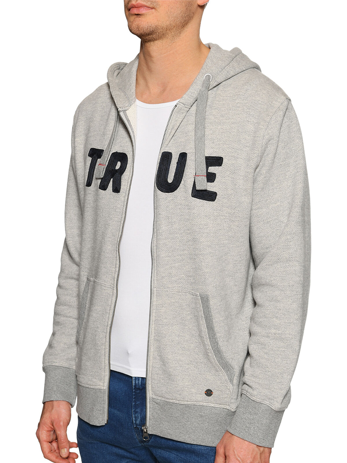 Hooded Sweatshirt Jacket